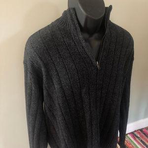 Bill Blass Sweater Half Zip Black XXL